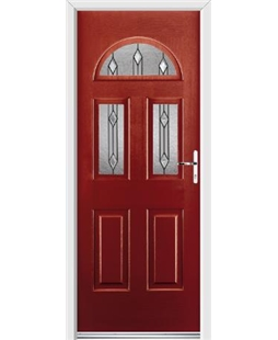 Ultimate Tennessee Rockdoor in Ruby Red with Dorado Glazing