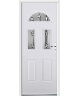 Ultimate Tennessee Rockdoor in White with Dorado Glazing