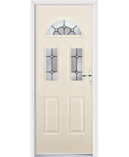 Ultimate Tennessee Rockdoor in Cream with Ellipse Glazing