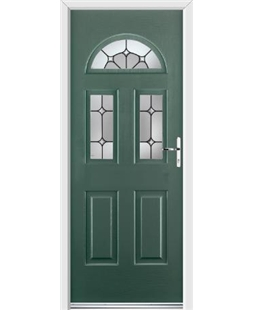 Ultimate Tennessee Rockdoor in Emerald Green with Ellipse Glazing