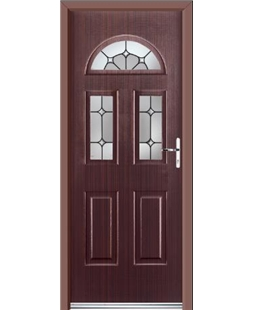 Ultimate Tennessee Rockdoor in Mahogany with Ellipse Glazing