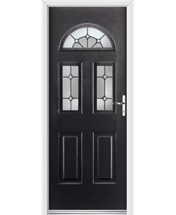 Ultimate Tennessee Rockdoor in Onyx Black with Ellipse Glazing