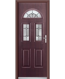 Ultimate Tennessee Rockdoor in Rosewood with Ellipse Glazing