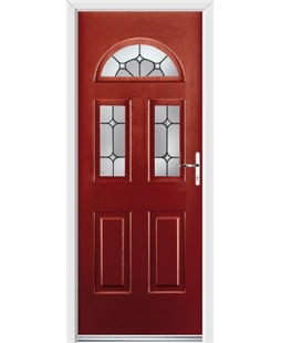 Ultimate Tennessee Rockdoor in Ruby Red with Ellipse Glazing