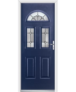 Ultimate Tennessee Rockdoor in Sapphire Blue with Ellipse Glazing