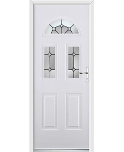 Ultimate Tennessee Rockdoor in White with Ellipse Glazing