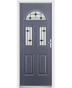 Ultimate Tennessee Rockdoor in Anthracite Grey with Green Diamonds