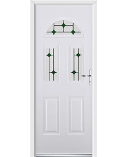Ultimate Tennessee Rockdoor in Blue White with Green Diamonds