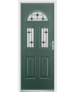 Ultimate Tennessee Rockdoor in Emerald Green with Green Diamonds
