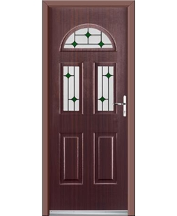Ultimate Tennessee Rockdoor in Mahogany with Green Diamonds