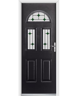 Ultimate Tennessee Rockdoor in Onyx Black with Green Diamonds