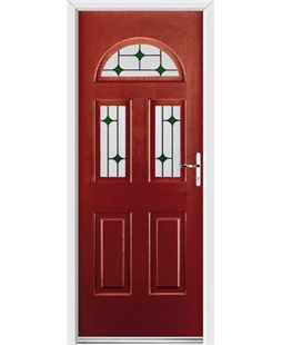 Ultimate Tennessee Rockdoor in Ruby Red with Green Diamonds