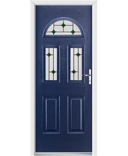 Ultimate Tennessee Rockdoor in Sapphire Blue with Green Diamonds