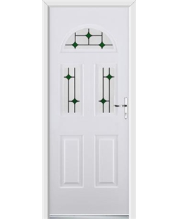 Ultimate Tennessee Rockdoor in White with Green Diamonds