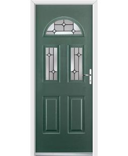 Ultimate Tennessee Rockdoor in Emerald Green with Linear Glaze
