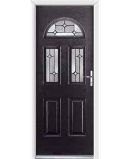 Ultimate Tennessee Rockdoor in Onyx Black with Linear Glaze