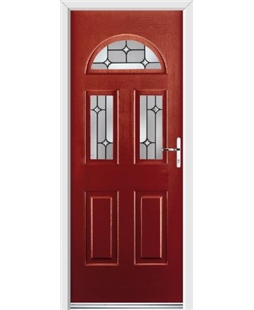 Ultimate Tennessee Rockdoor in Ruby Red with Linear Glaze