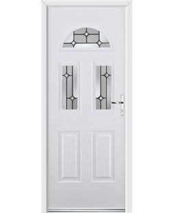 Ultimate Tennessee Rockdoor in White with Linear Glaze