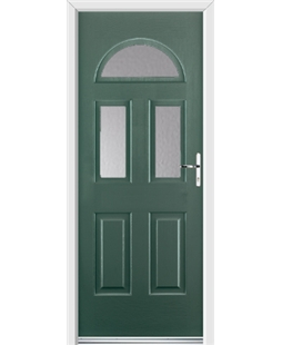Ultimate Tennessee Rockdoor in Emerald Green with Glazing