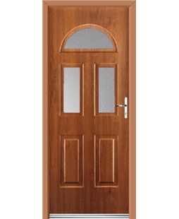Ultimate Tennessee Rockdoor in Light Oak with Glazing