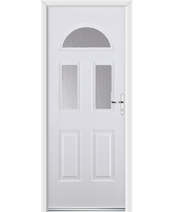 Ultimate Tennessee Rockdoor in White with Glazing