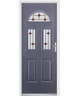 Ultimate Tennessee Rockdoor in Anthracite Grey with Red Diamonds