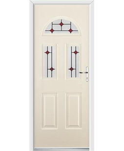 Ultimate Tennessee Rockdoor in Cream with Red Diamonds
