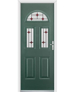 Ultimate Tennessee Rockdoor in Emerald Green with Red Diamonds