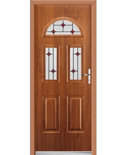 Ultimate Tennessee Rockdoor in Light Oak with Red Diamonds