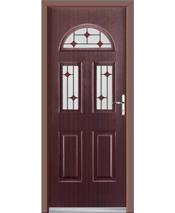 Ultimate Tennessee Rockdoor in Mahogany with Red Diamonds