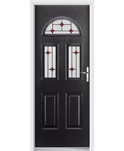 Ultimate Tennessee Rockdoor in Onyx Black with Red Diamonds