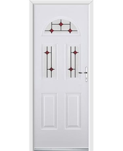 Ultimate Tennessee Rockdoor in White with Red Diamonds