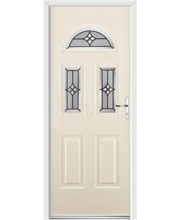 Ultimate Tennessee Rockdoor in Cream with Summit Glazing