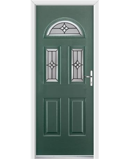 Ultimate Tennessee Rockdoor in Emerald Green with Summit Glazing
