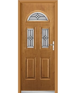 Ultimate Tennessee Rockdoor in Irish Oak with Summit Glazing