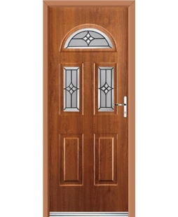Ultimate Tennessee Rockdoor in Light Oak with Summit Glazing