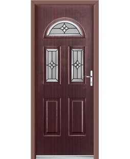 Ultimate Tennessee Rockdoor in Mahogany with Summit Glazing