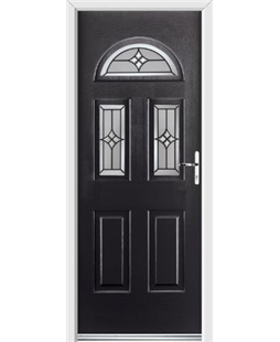 Ultimate Tennessee Rockdoor in Onyx Black with Summit Glazing