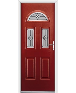 Ultimate Tennessee Rockdoor in Ruby Red with Summit Glazing