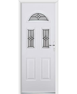 Ultimate Tennessee Rockdoor in White with Summit Glazing
