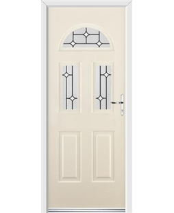 Ultimate Tennessee Rockdoor in Cream with White Diamonds