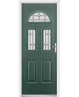 Ultimate Tennessee Rockdoor in Emerald Green with White Diamonds