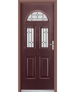 Ultimate Tennessee Rockdoor in Mahogany with White Diamonds