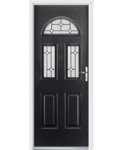 Ultimate Tennessee Rockdoor in Onyx Black with White Diamonds