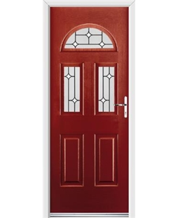 Ultimate Tennessee Rockdoor in Ruby Red with White Diamonds