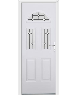 Ultimate Tennessee Rockdoor in White with White Diamonds