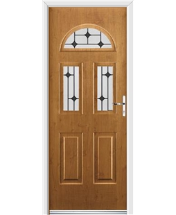 Ultimate Tennessee Rockdoor in Irish Oak with Black Diamonds