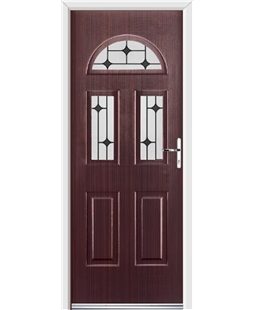 Ultimate Tennessee Rockdoor in Mahogany with Black Diamonds