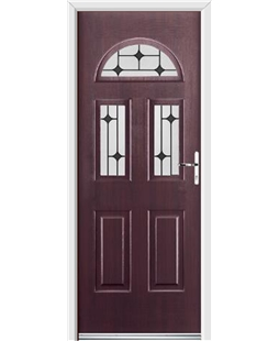 Ultimate Tennessee Rockdoor in Rosewood with Black Diamonds