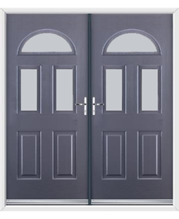 Tennessee French Rockdoor in Anthracite Grey with Glazing